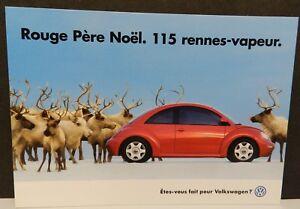 CANADA RED ROUGE RENNES VAPEUR PERE VW BEETLE DEALER PROMO POSTCARD VOLKSWAGEN