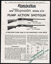 1951 REMINGTON Model 870AP and 870ADL Pump Shotgun PRINT AD Old Gun Advertising