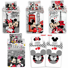Disney Minnie Maus London New York Paris Bettwäsche Kopfkissen Bettdecke Micky