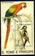 Oiseaux Saint Thomas et prince (14) bloc oblitéré