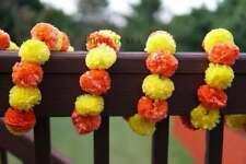 10Pcs Artificial Marigold Flower Garlands Wedding Indien Event Decoration
