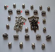 27 stück Skull Set 22 Beads Großloch Perlen Paracord Lanyard Armband Totenkopf