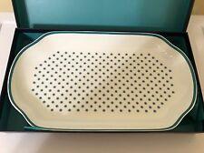 New Portmeirion Ted Baker Oval Serving Platter Langdon Teal Blue