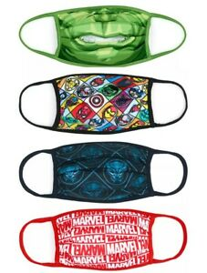Disney Store Reuseable Face Coverings Masks Marvel 4 Pack Extra Large
