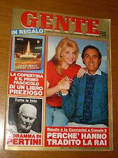 GENTE 1987/13=CUCCARINI BAUDO=SANDRO PERTINI MORTE=LADY DIANA=RITA PAVONE RENO T