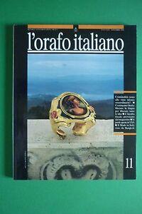 L'Orfebrería Italiano N.11/1990 Mensile Por Información Orfebrería Goldsmith