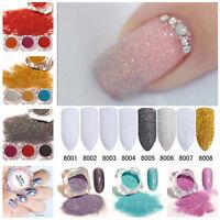 Nail Glitter Powder Dust Holographic Laser Nail Art Chrome Pigment 3D Decoration
