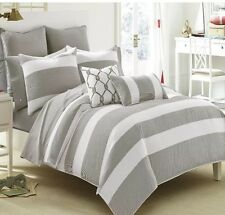 Southern Tide Breakwater Bedding Collection Gray Twin Comforter Set New