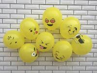 12Pcs Yellow Emotions Emoji Balloon Wedding Birthday Party Decoration Home Decor