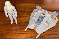 Star Wars - Snow Speeder & Snow Trooper Vintage Figure - As Is