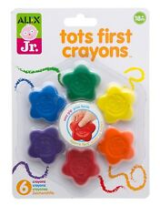 New Alex Jr. Tots First Crayons Rainbow Easy Grip Multicolor 18m+