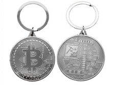 Collectors Coin Bitcoin Key Ring Keychain Gifts Silver
