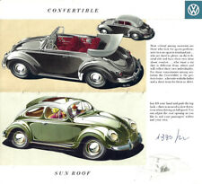 Brochure Depliant Volkswagen Beetle Maggiolino 1954 US Market DeLuxe Convertible