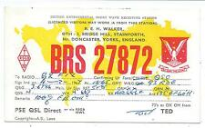 YORKSHIRE - STAINFORTH nr DONCASTER 1967  Q.S.L Radio Confirmation Card BRS27872