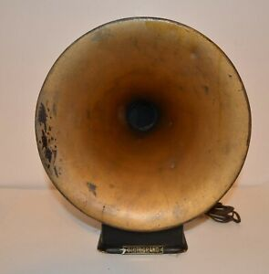EARLY 1920's RARE GOLD DICTOGRAPH HORN SPEAKER IN WORKING CONDITION