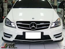For 12-14 M-BENZ  W204 C204 C250 C300 C350 Carbon Fiber Front Bumper Spoiler Lip