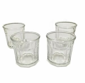 Set 4 Luminarc 500 10 Sided Working Glasses Made in France Drinking Glasses