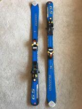 Blizzard 120cm 6.5 Freeride Parabolic Downhill Skis w Salomon Bindings Blue