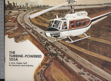 (192) Brochure hélicoptère Aircraft Helicopter Bell The turbine powered 205A