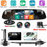 3 Lens HD 1080P In Car Rear View Mirror DVR Camera Dash Cam Security For Taxi