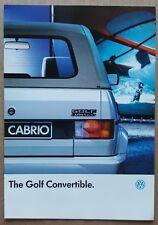 1990 Volkswagen Golf Convertible original sales brochure
