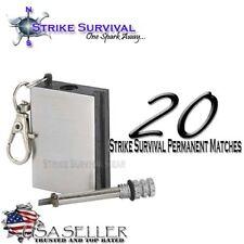 Forever Permanent Match Survival Lighter, Fire Starter, Camping, Hiking, BOB