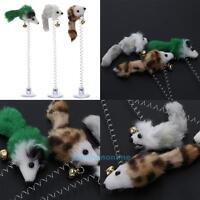 3Pcs Mini Plush Mouse Pet Cat Activity Toys Funny Playing Toys Bottom Sucker