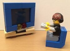 NEW LEGO Series 12 Gamer with Big Screen TV and Chair - FAST SHIP