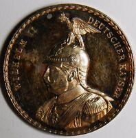 Karl Goetz The Capture of Antwerp 1914 silver medal aUNC R! (34 mm, 14.52 gram)