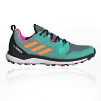 adidas Mens Terrex Agravic Trail Running Shoes Trainers Sneakers Green Sports