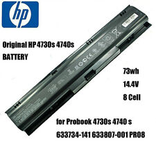 New listing Hp Laptop Battery 4730s 4740s 73Wh 8 Cell for Probook 633734-141 633807-001 Pr08