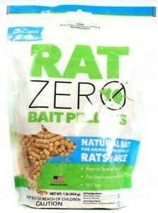 Rat Zero Natural Bait Pellets For Aiding in the Control of Rats and Mice 16oz