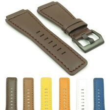 rDASSARI Magnum Genuine Leather Watch Band Strap w/ Black Buckle for Bell & Ross