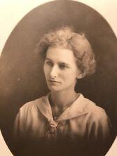 VTG Portrait Of Woman Named Tille 1923~Real Photo/Postcard~RPPC 🇺🇸