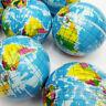 Mini Funny World Map Foam Earth Globe Stress Bouncy Ball Atlas Geography Toy Top