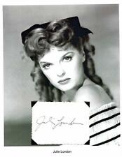 Julie London Autograph Star Singer Cry Me a River Emergency My Funny Valentine
