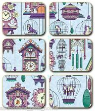 'Hickory Dickory Dock' Cinnamon Cork Backed Placemats - Set of 6 *NEW*