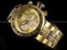 Invicta Men 52mm COMBAT SEAL 500M Pro Diver Chronograph 18KGIP SS Bracelet Watch