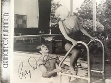 "Ray Danton SIGNED 8x10 Photo with Jayne Mansfield ""George Raft Story""  1961"