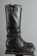 Vtg Men's 1970s Wesco Tall Black Engineer Motorcycle Boots sz 10 or 10.5 70s