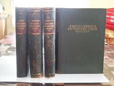 ENCYCLOPEDIE AUTODIDACTIQUE EN 4 VOLUMES  EDITIONS QUILLET ANNEE 1932