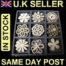 45 X WOODEN FLOWER SHAPES EMBELISHMENTS BOXED CRAFTS CARD MAKING