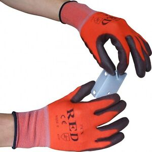 10 x UCI - PCP-RED - Ultimate lightweight Precision Gloves - PU Palm Coated