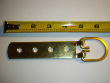 (25) 6 inch long Huge 4 hole strap picture hanger Frame D Ring brass Giant