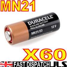 60 x  DURACELL MN21 A23 k23A LRV08 Alkaline Batteries 12v