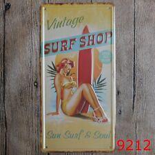 Metal Tin Sign car plate vintage surf shop Bar Pub Vintage Retro Poster Cafe ART