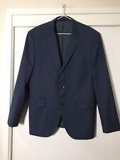 Hugo Boas Mens Navy Blue Suit Jacket Size 42/S Good Condition