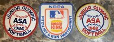 Asa Junior Olympic 2 Softball Patches 1 Nrpa Baseball Vintage Patches Lot Used