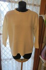 VINTAGE 80'S ~ JUST JEANS ~  White JUMPER * Size 12 * 1/2 PRICE !!