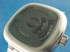SILVER LARGE HEAVY 70s Jump Hour digital Vintage Retro Style Led era Watch TV